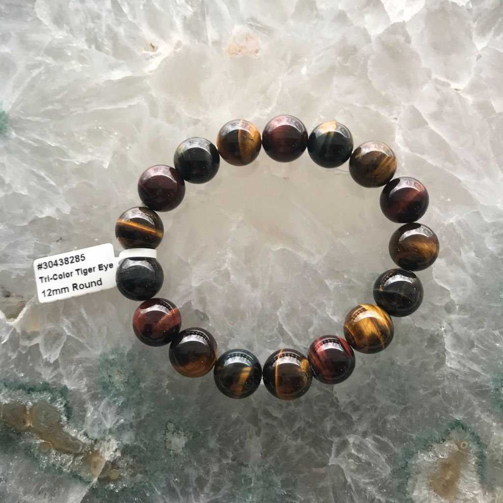 Blue Tiger Eye Mens Stretch Bracelet ** Reiki Healing Jewelry